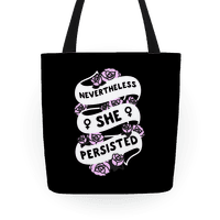 Nevertheless She Persisted (Feminist Ribbon) Tote