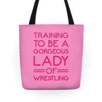 Training To Be A Gorgeous Lady Of Wrestling White Print