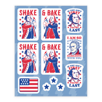 Shake & Bake Patriotic Stickers