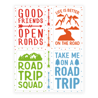 Road Trip Sticker Sheet