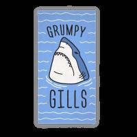 Grumpy Gills Shark Towel