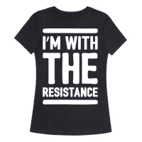 I'm With The Resistance White Print Tee