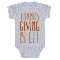 3587423f0 Thanksgiving Is Lit Crewneck Sweatshirt | LookHUMAN
