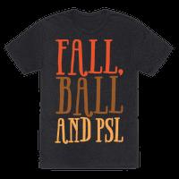 Fall Ball and Psl White Print Tee