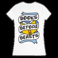 Books Before Beasts Tee