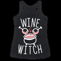 Wine Witch (White) Racerback