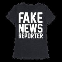 Fake News Reporter White Print