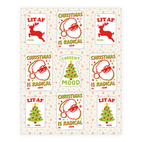 Christmas Is Lit and Radical Gift Tag Sticker Sheet
