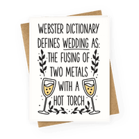 Webster Dictionary Defines Wedding Greetingcard