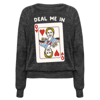 Deal Me In White Print Pullover