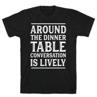 Around The Dinner Table, Conversation Is Lively