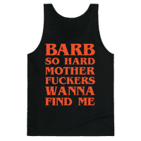 Barb So Hard Parody White Print Tank