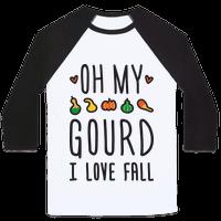 Oh My Gourd I Love Fall Baseball