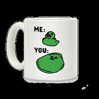 Me vs You Melting Ducky Meme