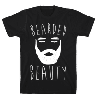 Bearded Beauty White Print