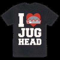 I Love Jughead White Print