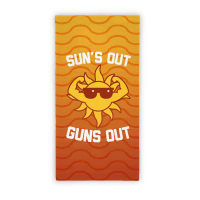 Sun's Out Guns Out (Beach Towel) Towel