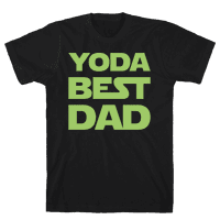 Yoda Best Dad Parody White Print