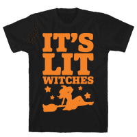 It's Lit Witches White Print