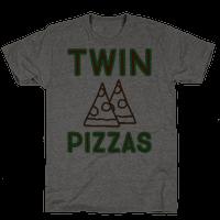 Twin Pizzas Parody Tee