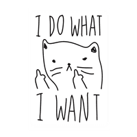 I Do What I Want Wall-decal