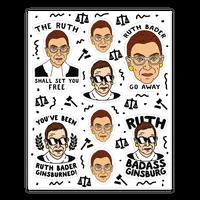 Sassy Ruth Bader Ginsburg Sticker Sheet Sticker