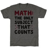 Math: The Only Subject That Counts
