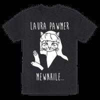 Laura Pawmer Parody White Print Tee