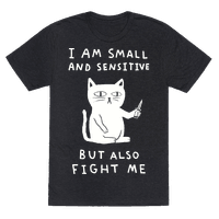 I Am Small And Sensitive But Also Fight Me