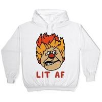 Lit AF Heat Miser Hooded Sweatshirts | LookHUMAN