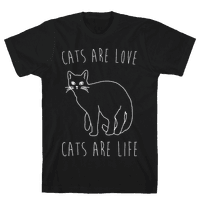Cats Are Love Cats Are Life White Print