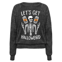 Lets Get Halloweird (White) Pullover