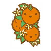 Kawaii Oranges Wall-decal