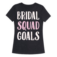 Bridal Squad Goals White Print Tee