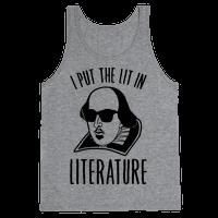 I Put The Lit In Literature Tank