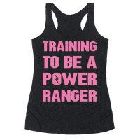 Training To Be A Power Ranger Parody White Print