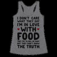 Bleeding Love For Food Racerback