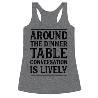 Around The Dinner Table Conversation Is Lively
