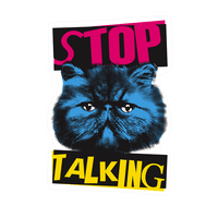 Stop Talking Wall-decal