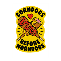 Corndogs Before Horndogs Wall-decal